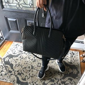 Quilted tote handbag